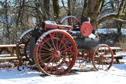 Steam Tractor in Vernonia, Oregon