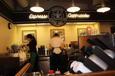 """Origional"" First Starbucks, Pike Place Market, Seattle WA (c) SMLennox 2014"